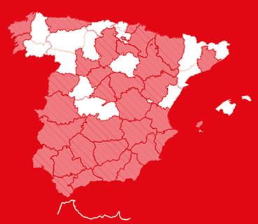 133 en toda España.