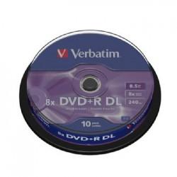 DVD+R VERBATIM DOUBLE LAYER 8X 8.5Gb TARRINA 10