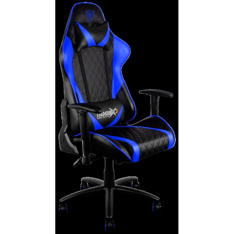 Tgc15bb silla gamer pro thunderx3 tgc15bb color negra azul for Precio sillas gamer