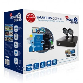 KIT VIDEOVIGILANCIA HOMEGUARD CCTV 720P 4CH+2 CAMA
