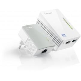 ADAPTADOR RED TP-LINK KIT 2x PLC 300Mbps WIFI